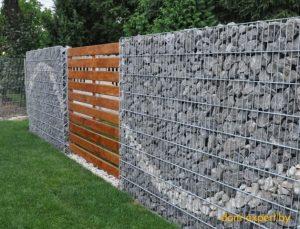 Как построить габионный забор?