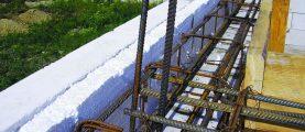 Как правильно сделать монолитный пояс для стены из ячеистого бетона?