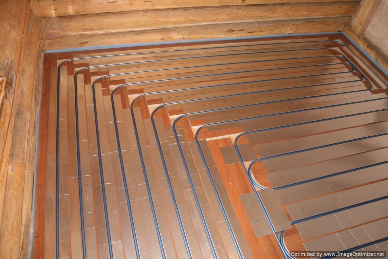 Теплый пол под плитку в деревянном доме