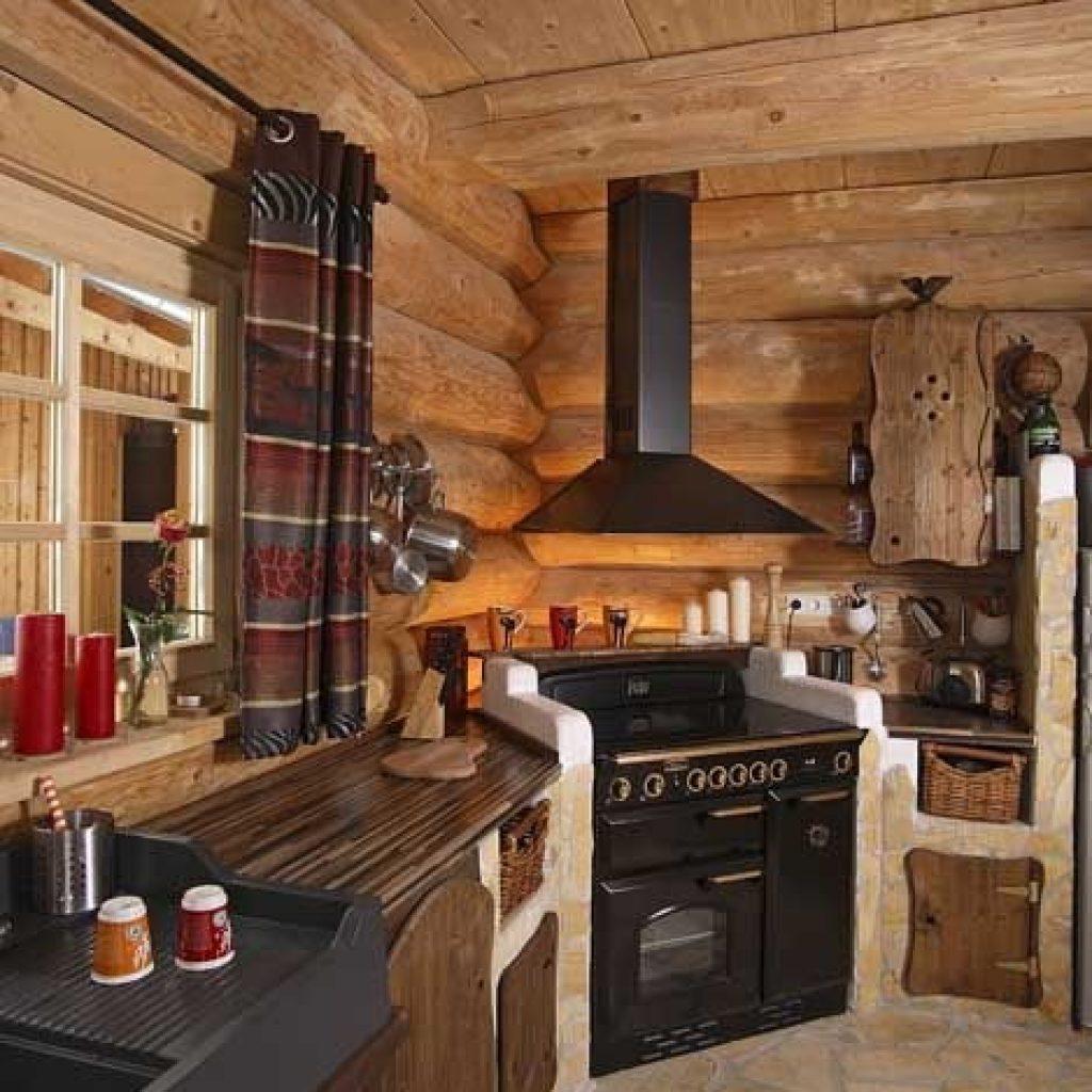 Угловая кухня на дачу своими руками фото