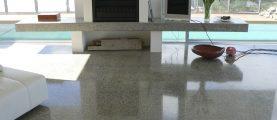 Как сделать бетонную стяжку — глянцевым полом?