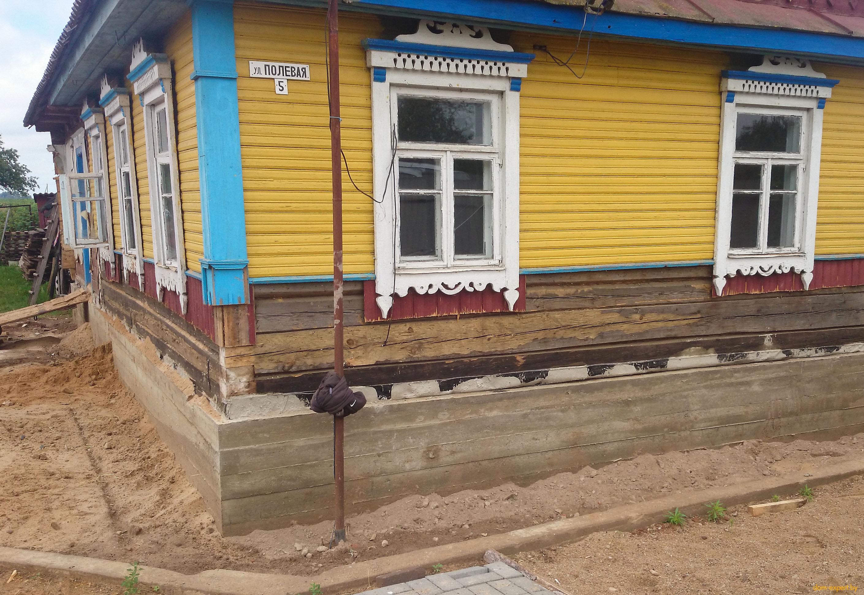 восстановление деревенского дома до и после фото