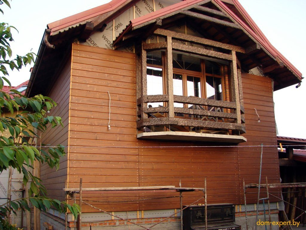 Как сделать фасад деревянного дома 809