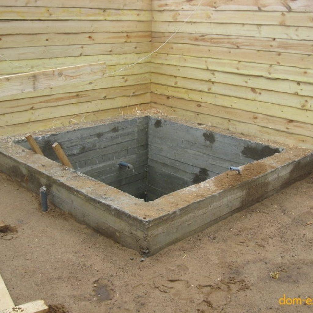 Фундамент и пол для бани своими руками