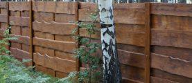 Как построить забор из необрезной доски?