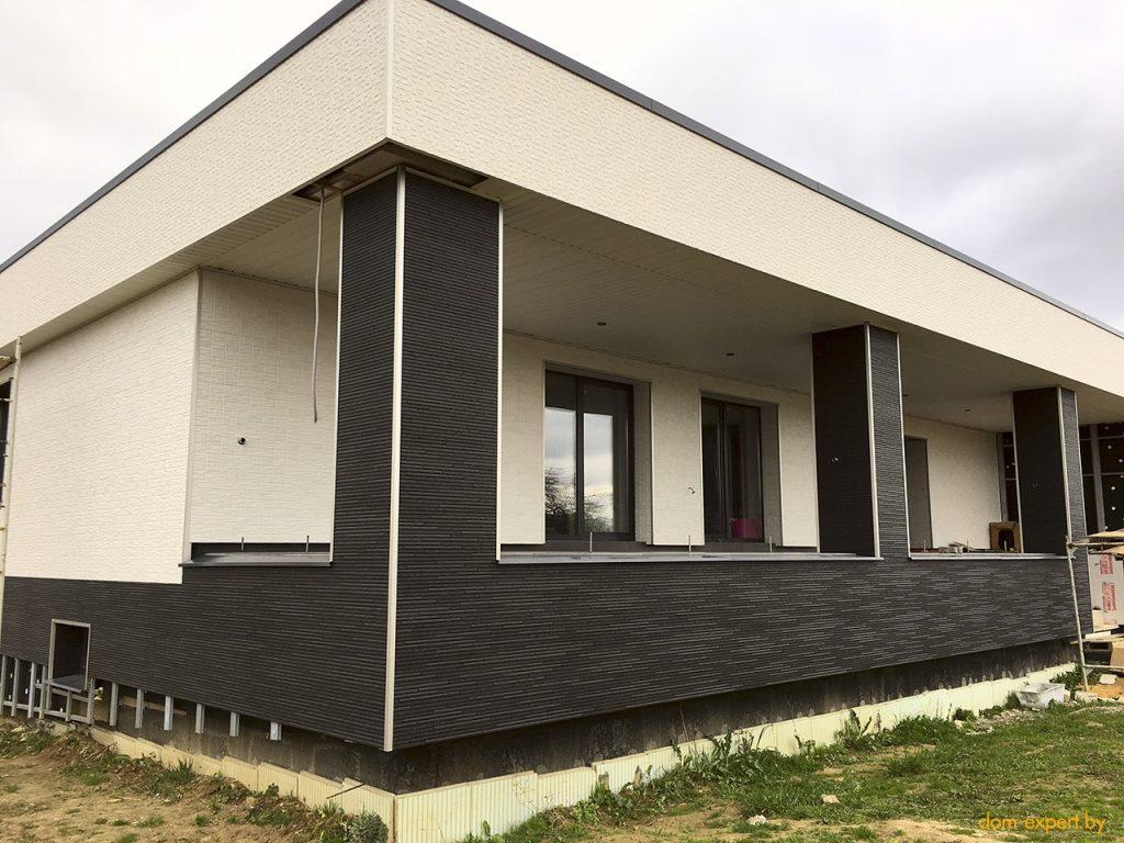 картинка фасад дома из панелей белого