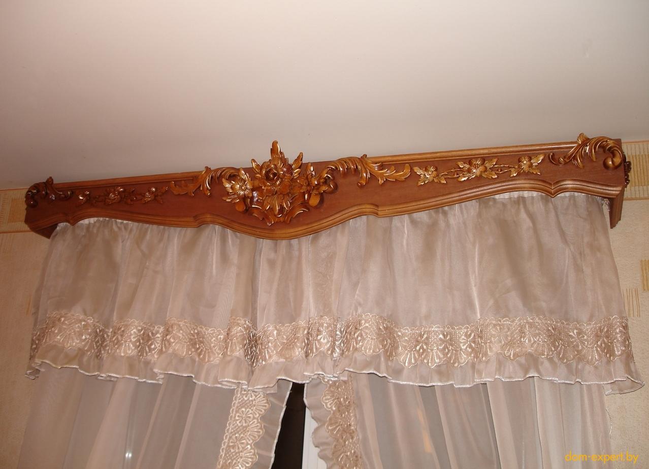 Как сделать карниз из дерева для штор фото
