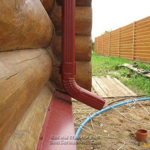Деформация крепления водосточной трубы
