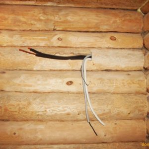 Опасная глупость - скрытая проводка в деревянном доме