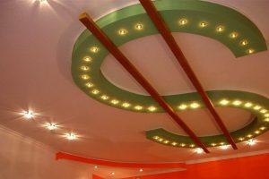 Расчет цены потолков для типовой комнаты в 18 кв.м. Натяжной или из гипсокартона — какой дешевле?