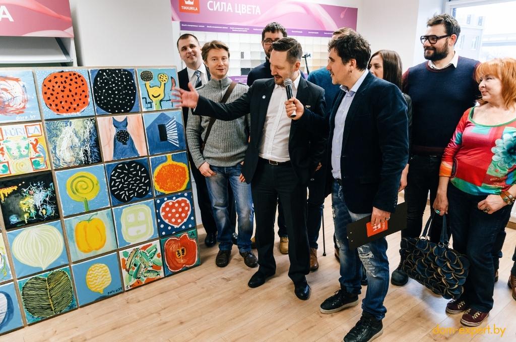 Известные дизайнеры Беларуси создали необычное панно с помощью красок Tikkurila