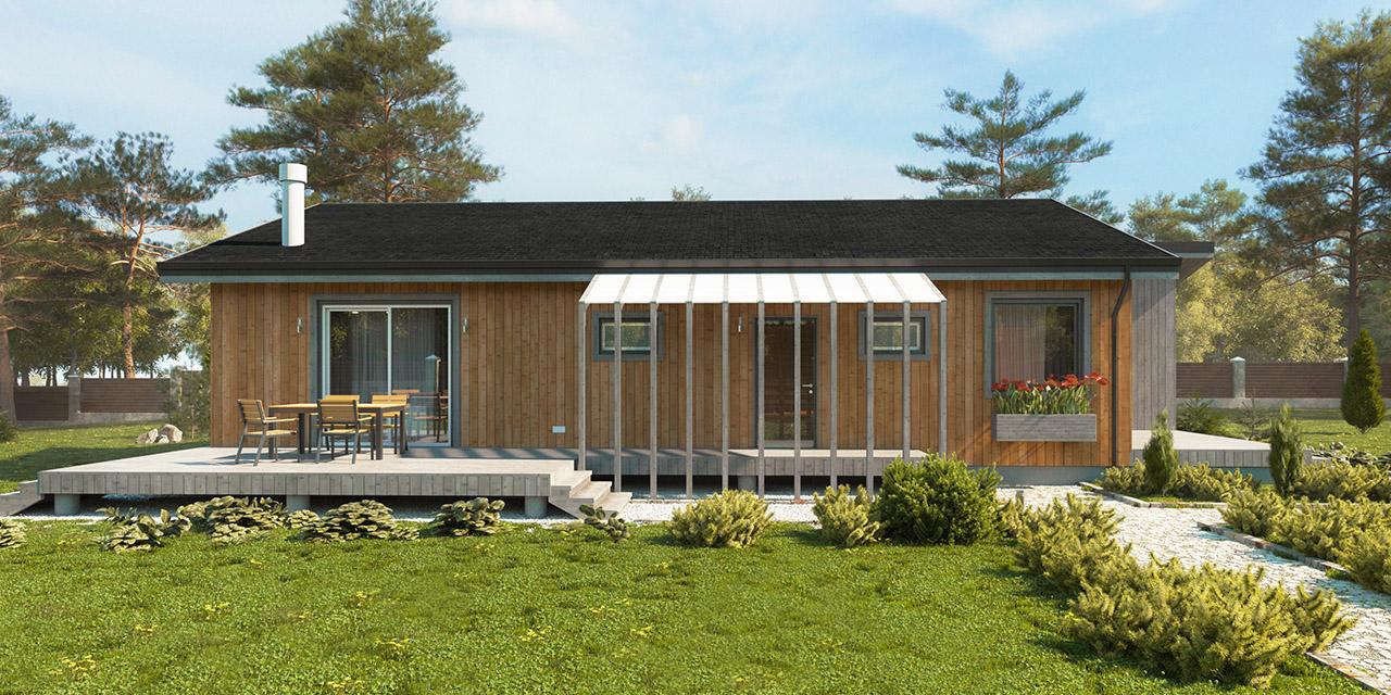 каркасный модульный дом