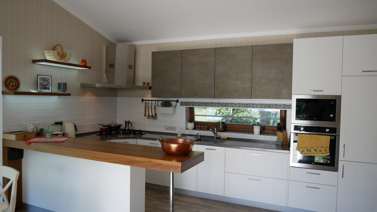 кухня в каркасном доме