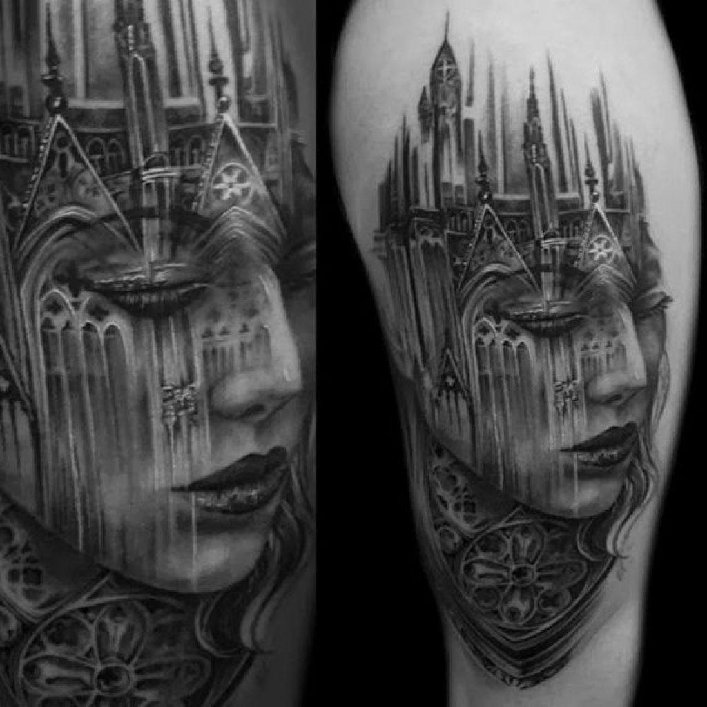 Готический стиль тату