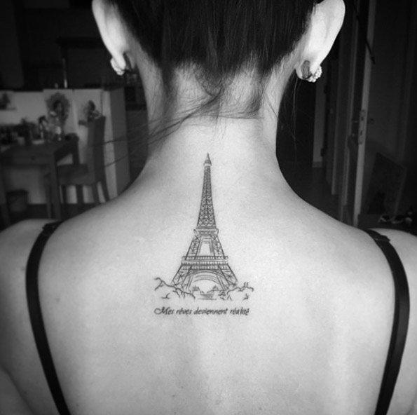 эйфелева башня татуировка