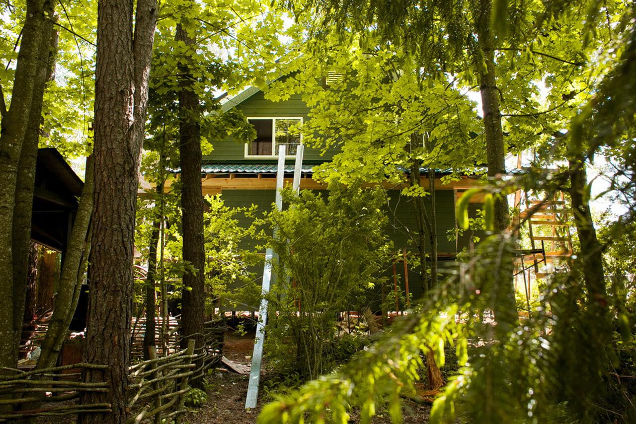 каркасный дом для лета
