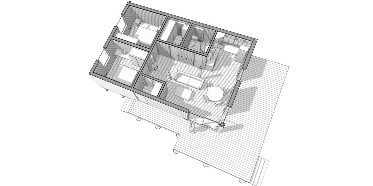 каркасный дом планировка