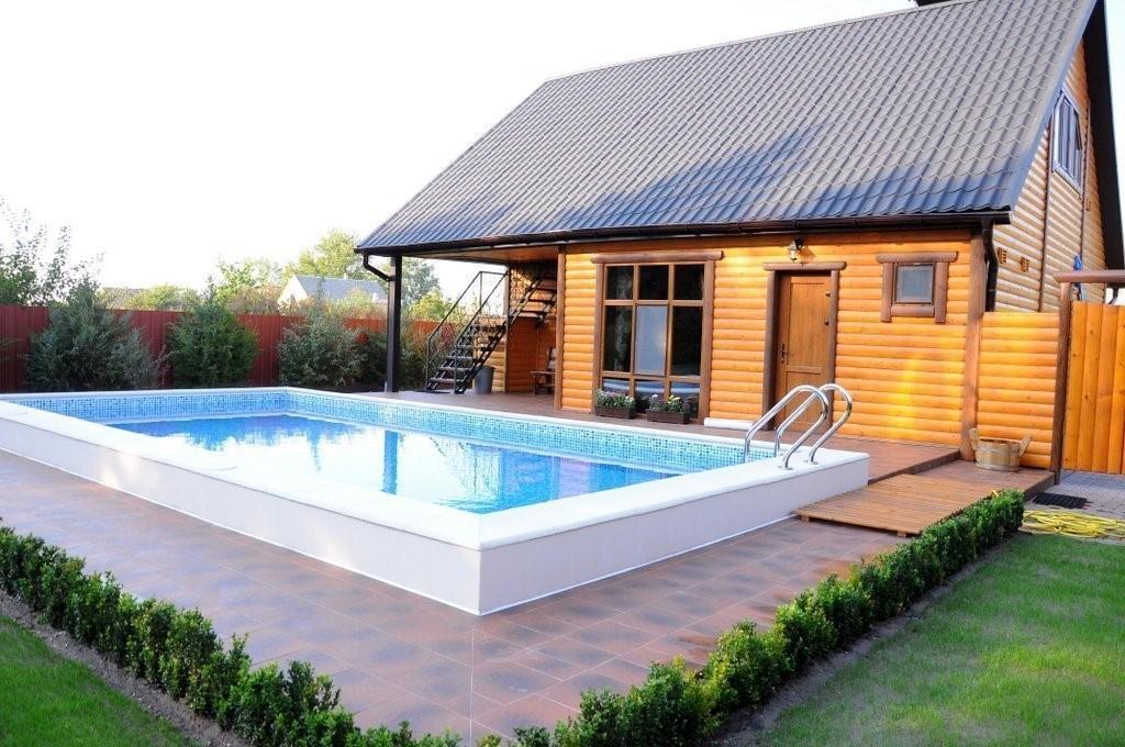 Русская баня, финский бассейн и альпийская горка – три элемента одного ландшафта