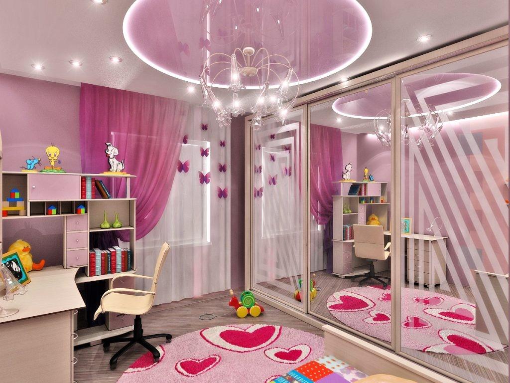 Как оформить потолок в комнате для девочки?