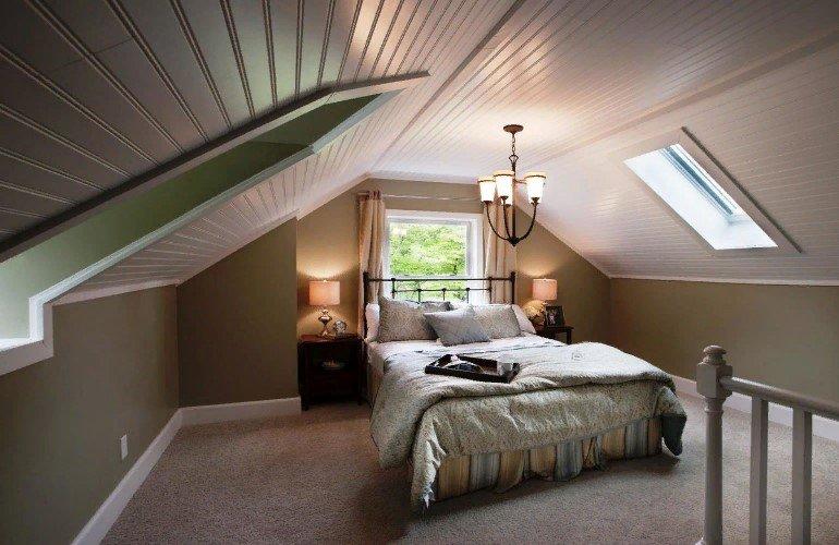 Обустройство спальни на мансарде: плюсы и минусы, особенности зонирования