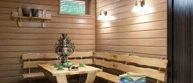 Вагонка во внутренней отделке бани: выбор для разных зон и защита древесины от гниения