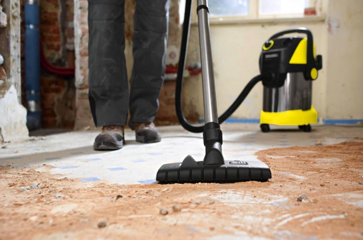 Принцип работы строительного пылесоса