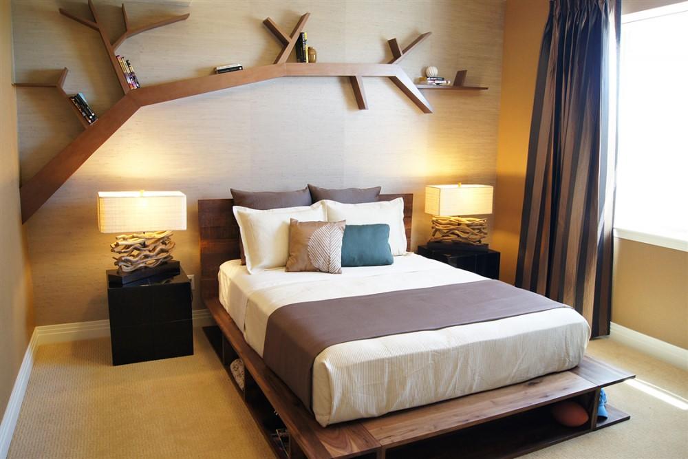 Полки для спальни: лучшие варианты