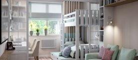Совмещение гостиной и детской комнаты: советы и особенности