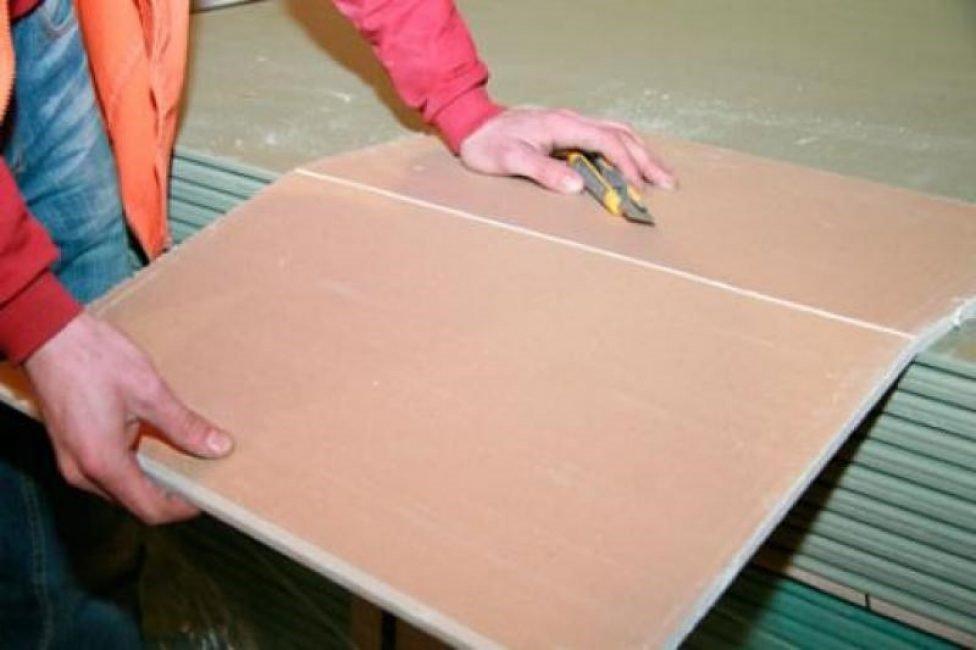 Как правильно резать гипсокартон