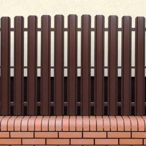 Забор из металлического штакетника в Гомеле