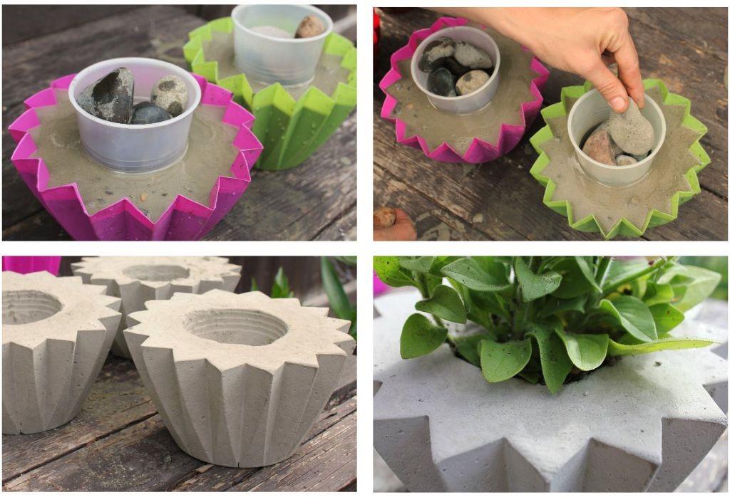 Как и из чего сделать декоративные вазоны