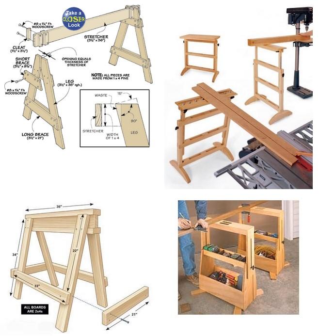 Как самостоятельно соорудить строительного козла из дерева