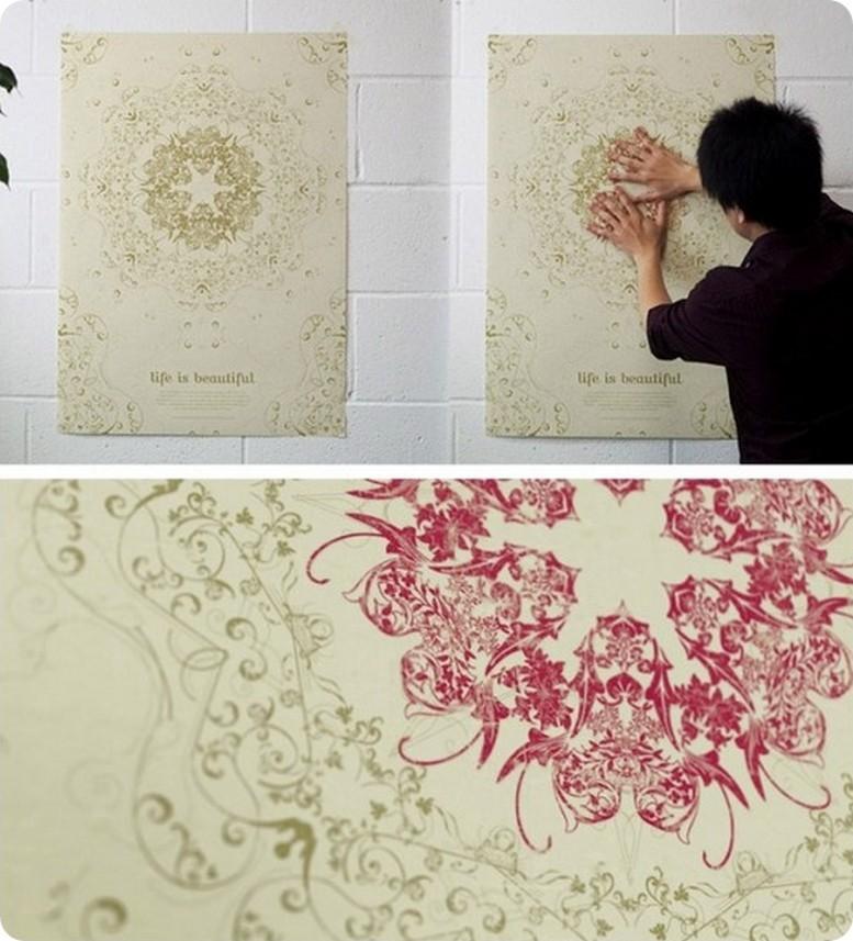 Китайские тепловые обои с «живыми» рисунками: что собой представляют