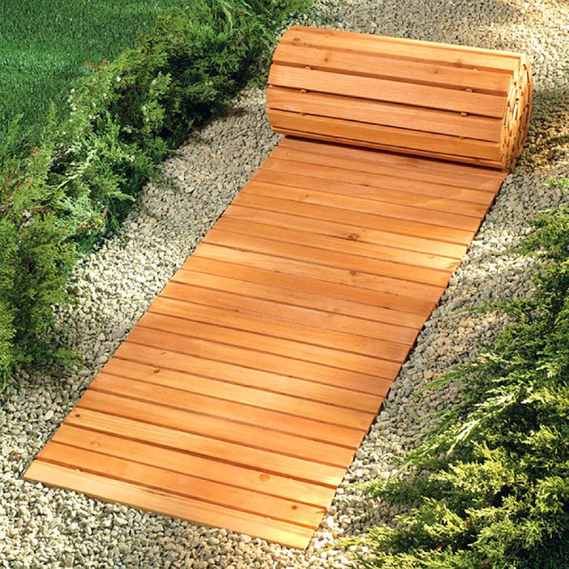 Временные садовые дорожки: выбор варианта благоустройства дачного участка