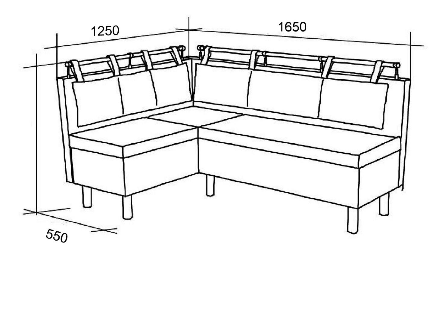 Сколько места займёт угловой комплект в кухне хрущёвской пятиэтажки