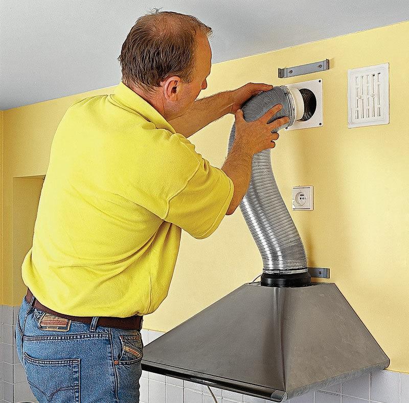 Гофрированная труба для кухонной вытяжки: разновидности, критерии выбора и порядок установки
