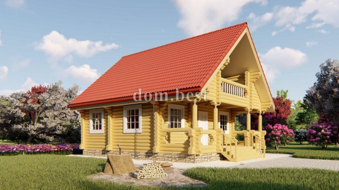 Дома из оцилиндрованного бревна – преимущества, экономия и минимум отделки